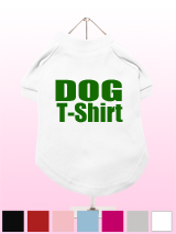"""Design Your Own"" Dog T-Shirt - A fun, funky & distinct dog t-shirt. Made from high quality, fine knit gauge, 100% cotton and features a velvety-feel cotton-flock ''xxxDesignxxx'' design."