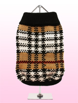 Autumn Sweater - We have taken the inspiration for this sweater from traditional tartan designs but given it a contemporary <br />tweak, it is a warm and stylish with classic Autumnal colours of black, white and brown. It will look good all <br />year round.