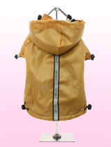 Gold Fleece-Lined Raincoat - Protect your pup from the rain with this waterproof raincoat in a rich teal blue colour, it has a detachable hood and is fleece lined for warmth and has three hi-visibility stripes each featuring a trendy 'sport' logo, one runs the length of the body while the other two are on each arm, this enables...