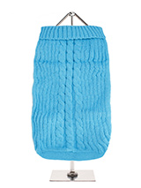 Blue Cable Knit Sweater - A traditional style cable knit sweater is truly timeless and will keep your dog warm and snug in the cold days ahead. Finished with an on trend high neck and elasticated sleeves to ensure a great fit from front to back.