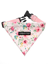 Pink Floral Cascade Bandana - Our Floral Cascade Bandana is a rich contemporary style and the floral pattern is right on trend. Just attach your lead to the D ring and this stylish Bandana can also be used as a collar. It is lightweight and incredibly strong. You can be sure that this stylish and practical Bandana will be admire...