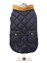 Navy Blue Quilted Town & Country Coat - Urban Pup's Quilted Town and Country Coat has been crafted for lightweight warmth and unparalleled heritage style. It just oozes class and is perfect for either the city or country. The beautiful soft corduroy collar has an enamel Urban Pup label pin as standard for that on-trend, quality feel. It h...