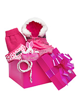 Precious Girl Luxury Gift Box Hamper - A perfectly pink gift for that spoilt little angel, our gift-wrapped luxurious Gift Box Set features a preferred collection of ''Pretty in Pink'' clothing. Presented in a beautiful Fuchsia pink box and finished with with a large pink ribbon this is the perfect gift for a new pup or a birthday girl,...